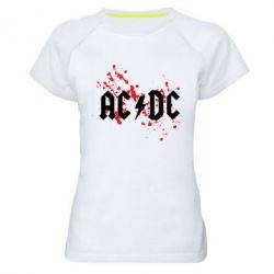 Жіноча спортивна футболка ACDC - FatLine