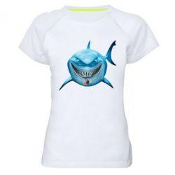 Жіноча спортивна футболка Акула посміхається