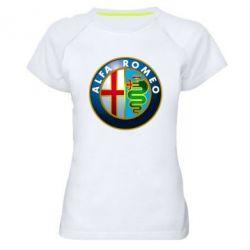 Женская спортивная футболка ALFA ROMEO - FatLine