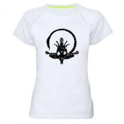 Женская спортивная футболка Alien Yoga - FatLine