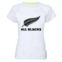Женская спортивная футболка All Blacks