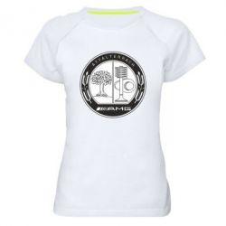 Женская спортивная футболка AMG - FatLine