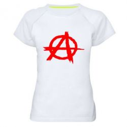 Женская спортивная футболка Anarchy - FatLine