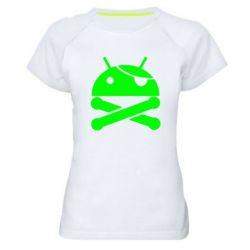 Женская спортивная футболка Android Pirate - FatLine