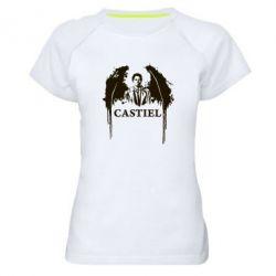 Женская спортивная футболка Ангел Кастиэль - FatLine