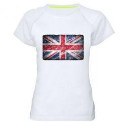 Женская спортивная футболка Англия - FatLine