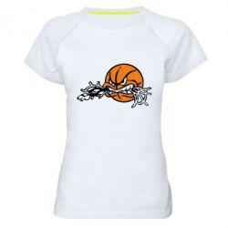 Женская спортивная футболка Angry ball - FatLine
