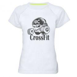 Женская спортивная футболка Angry CrossFit - FatLine