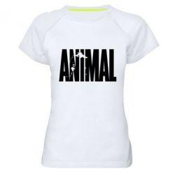 Женская спортивная футболка Animal Gym - FatLine