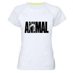 Женская спортивная футболка Animal Powerlifting - FatLine