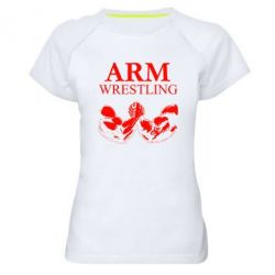 Женская спортивная футболка Arm Wrestling - FatLine