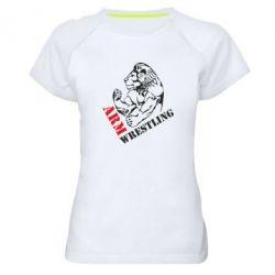 Женская спортивная футболка Arm Wrestling