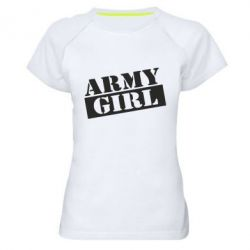 Жіноча спортивна футболка Army girl