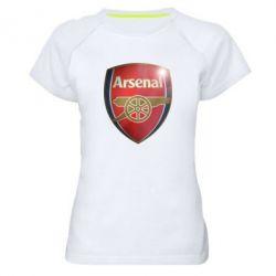 Женская спортивная футболка Arsenal 3D - FatLine