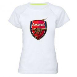 Женская спортивная футболка Arsenal Art Logo - FatLine