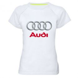 Женская спортивная футболка Audi 3D Logo - FatLine