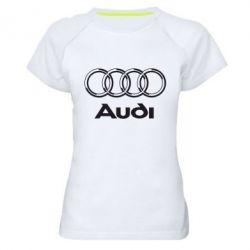 Женская спортивная футболка Audi Big - FatLine