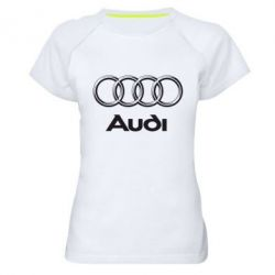 Женская спортивная футболка Audi Small - FatLine