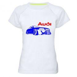 Женская спортивная футболка Audi Turbo