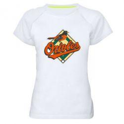 Женская спортивная футболка Baltimore Orioles - FatLine