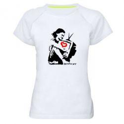 Женская спортивная футболка Bancsy TV - FatLine