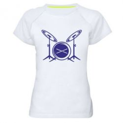 Женская спортивная футболка Барабанная установка - FatLine