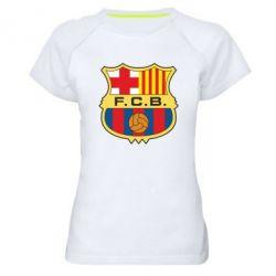 Женская спортивная футболка Barcelona - FatLine