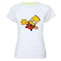 Женская спортивная футболка Барт Симпсон