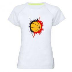 Женская спортивная футболка Баскетбольный мяч - FatLine
