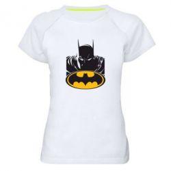 Женская спортивная футболка Batman face - FatLine