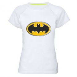 Женская спортивная футболка Batman Gold Logo - FatLine