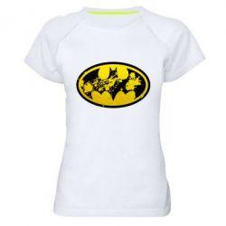 Женская спортивная футболка Batman Graffiti - FatLine