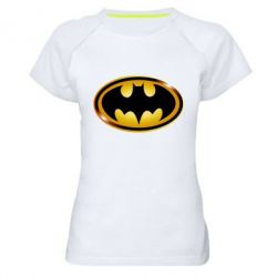 Женская спортивная футболка Batman logo Gold - FatLine