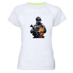 Женская спортивная футболка Battlefield Warrior - FatLine