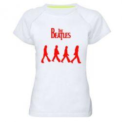 Женская спортивная футболка Beatles Group - FatLine