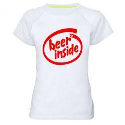 Женская спортивная футболка Beer Inside - FatLine