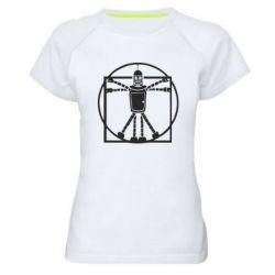Женская спортивная футболка Bender Da Vinchi - FatLine