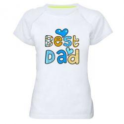 Женская спортивная футболка Best Dad - FatLine