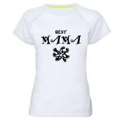Женская спортивная футболка Best Mama - FatLine