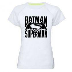 Женская спортивная футболка Бэтмен vs. Супермен - FatLine