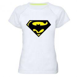 Женская спортивная футболка БэтСупермен - FatLine
