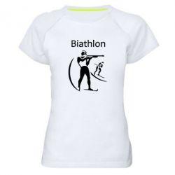 Женская спортивная футболка Biathlon - FatLine