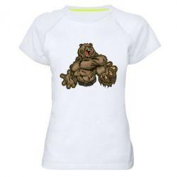 Женская спортивная футболка Big Bear - FatLine