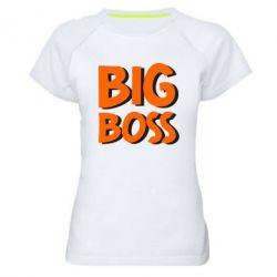Женская спортивная футболка Big Boss - FatLine