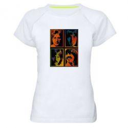 Женская спортивная футболка Битлы - FatLine