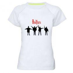 Женская спортивная футболка Битлы