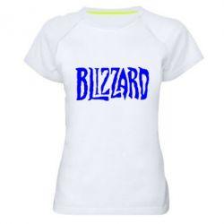 Женская спортивная футболка Blizzard Logo - FatLine