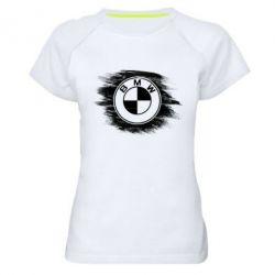 Купить Женская спортивная футболка БМВ арт, BMW art, FatLine
