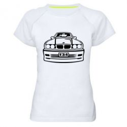 Женская спортивная футболка BMW E34 - FatLine