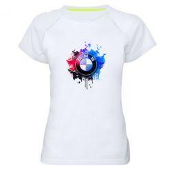 Женская спортивная футболка BMW logo art 2 - FatLine